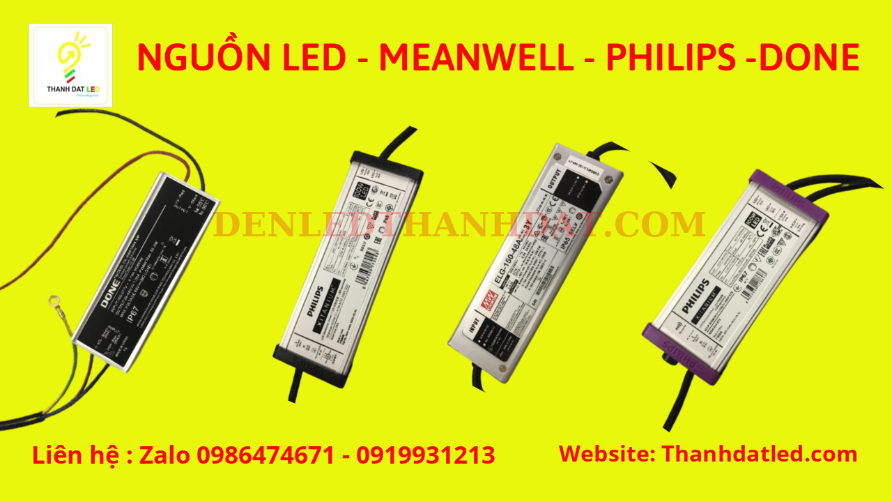 nguồn led done philips meanwell